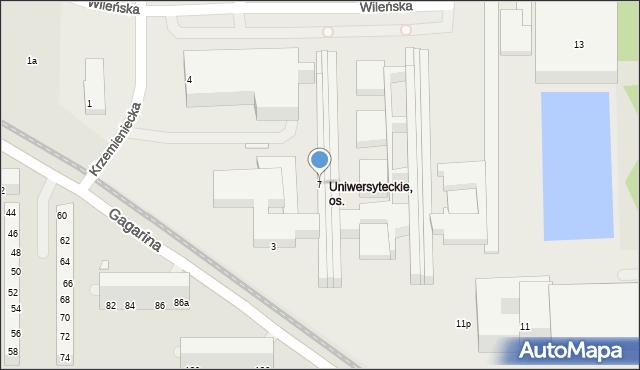 Toruń, Gagarina Jurija, 7, mapa Torunia