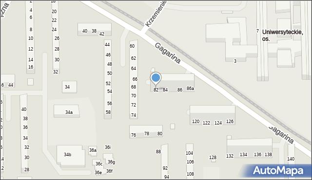 Toruń, Gagarina Jurija, 82, mapa Torunia