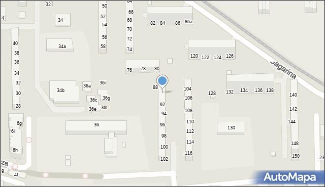 Toruń, Gagarina Jurija, 90, mapa Torunia