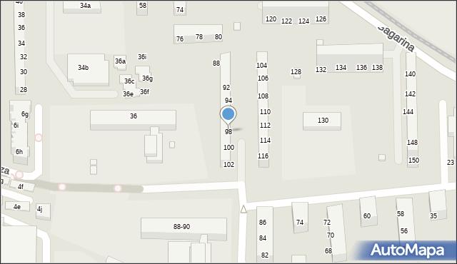 Toruń, Gagarina Jurija, 98, mapa Torunia