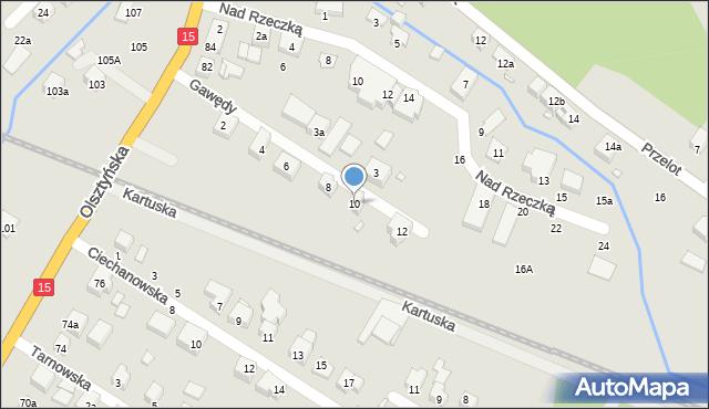 Toruń, Gawędy, 10, mapa Torunia