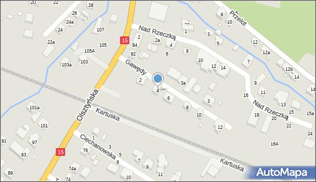 Toruń, Gawędy, 4, mapa Torunia