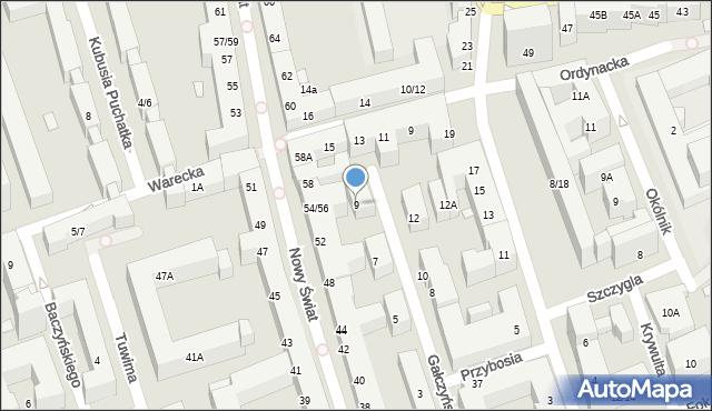 Warszawa, Gałczyńskiego Konstantego Ildefonsa, 9, mapa Warszawy