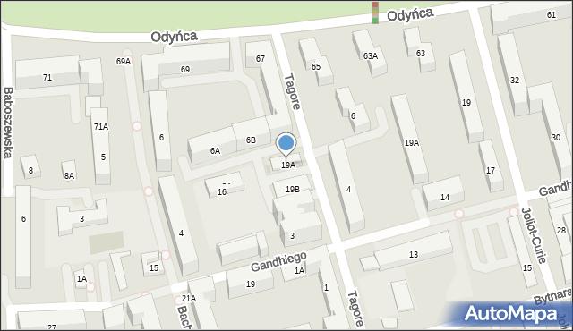 Warszawa, Gandhiego Mahatmy, 19A, mapa Warszawy
