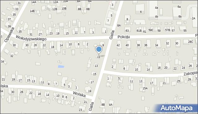 Zabrze, Galla Jana, 11, mapa Zabrza