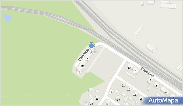 Zabrze, Gawrona Józefa, 1C, mapa Zabrza