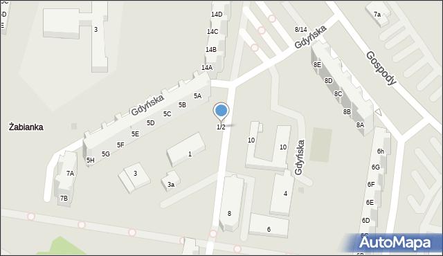 Gdańsk, Gdyńska, 1/2, mapa Gdańska
