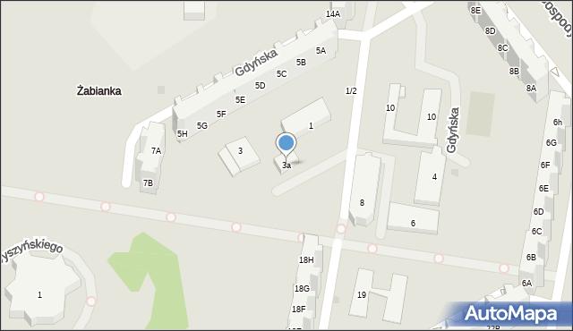 Gdańsk, Gdyńska, 3a, mapa Gdańska