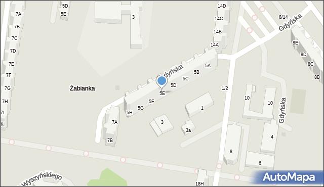 Gdańsk, Gdyńska, 5E, mapa Gdańska