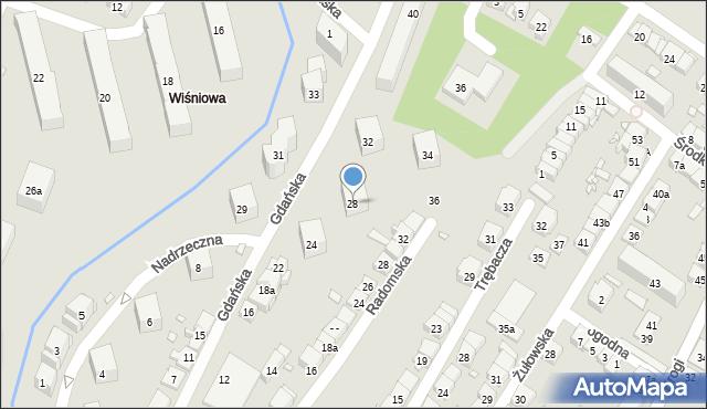 Kraków, Gdańska, 28, mapa Krakowa