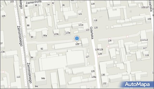 Łódź, Gdańska, 125, mapa Łodzi