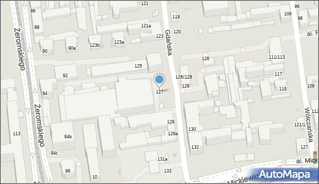 Łódź, Gdańska, 127, mapa Łodzi