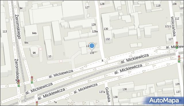 Łódź, Gdańska, 133, mapa Łodzi