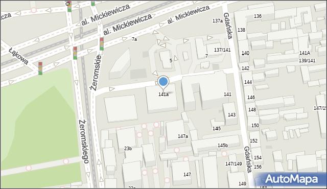 Łódź, Gdańska, 141a, mapa Łodzi
