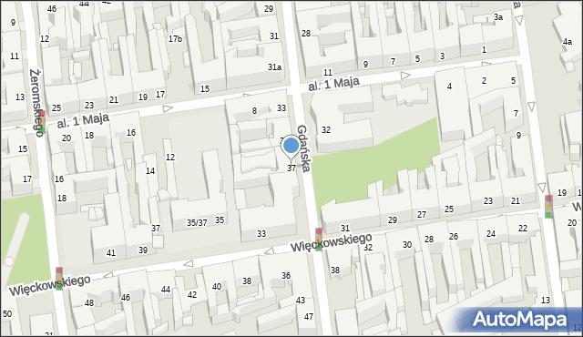 Łódź, Gdańska, 37, mapa Łodzi