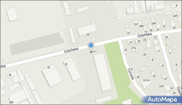 Radom, Gdyńska, 29, mapa Radomia