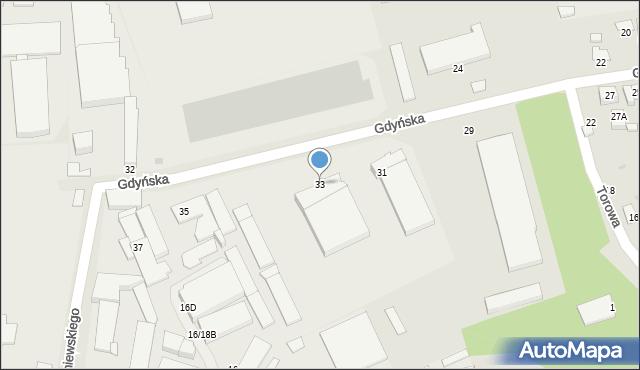 Radom, Gdyńska, 33, mapa Radomia