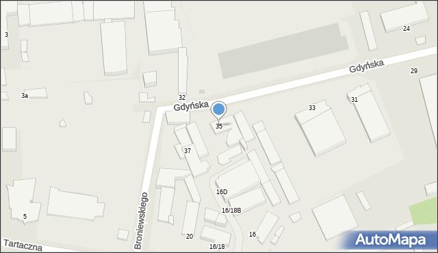 Radom, Gdyńska, 35, mapa Radomia