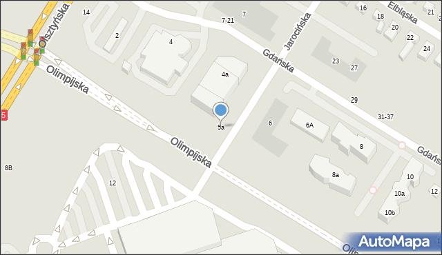 Toruń, Gdańska, 5a, mapa Torunia