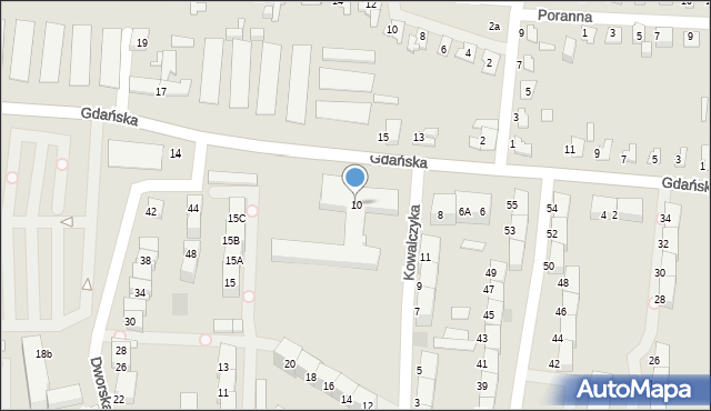 Zabrze, Gdańska, 10, mapa Zabrza