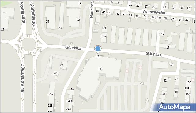 Zabrze, Gdańska, 12, mapa Zabrza