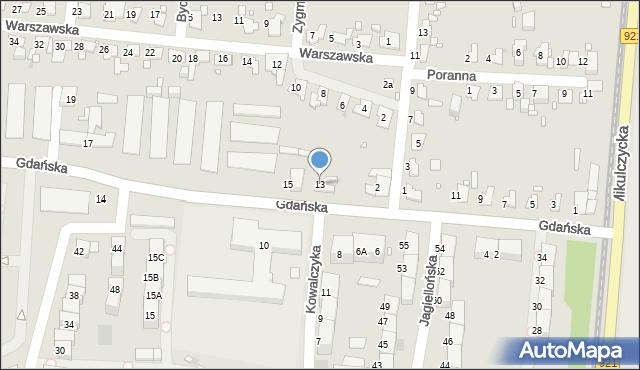 Zabrze, Gdańska, 13, mapa Zabrza