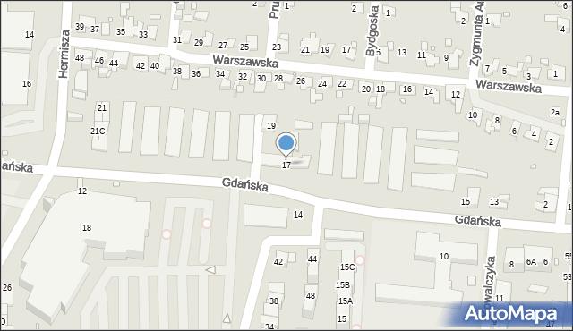 Zabrze, Gdańska, 17, mapa Zabrza