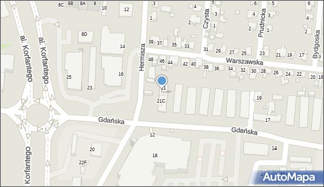 Zabrze, Gdańska, 21B, mapa Zabrza