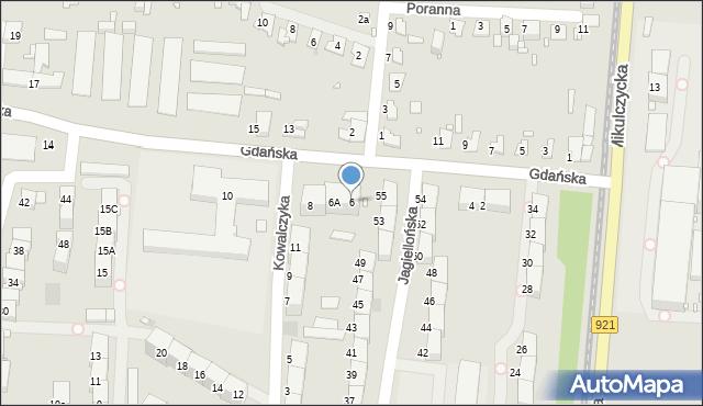 Zabrze, Gdańska, 6, mapa Zabrza