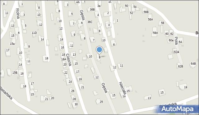 Jaworzno, Gęsia, 9, mapa Jaworzno