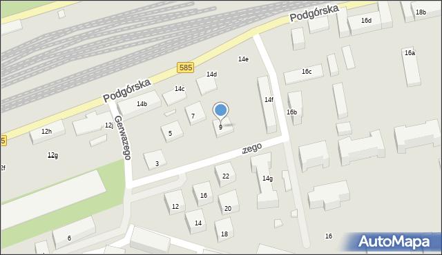 Toruń, Gerwazego, 9, mapa Torunia