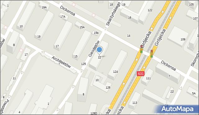 Warszawa, Geodetów, 12, mapa Warszawy