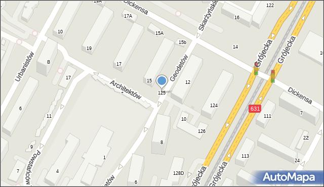 Warszawa, Geodetów, 125, mapa Warszawy