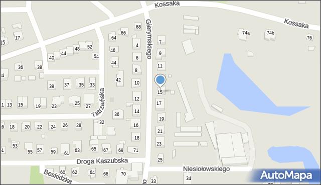 Grudziądz, Gierymskiego Aleksandra, 15, mapa Grudziądza
