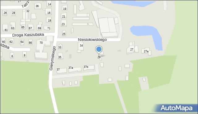 Grudziądz, Gierymskiego Aleksandra, 29, mapa Grudziądza