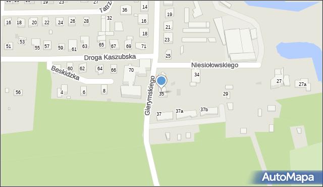 Grudziądz, Gierymskiego Aleksandra, 35, mapa Grudziądza