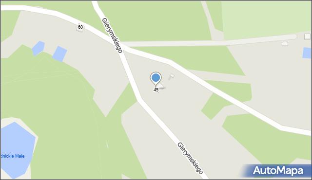Grudziądz, Gierymskiego Aleksandra, 45, mapa Grudziądza
