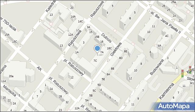 Kołobrzeg, Giełdowa, 7B, mapa Kołobrzegu