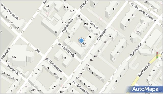 Kołobrzeg, Giełdowa, 7D, mapa Kołobrzegu