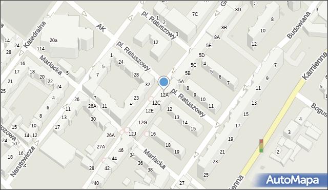 Kołobrzeg, Gierczak Emilii, 12A, mapa Kołobrzegu