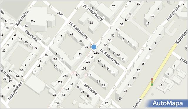 Kołobrzeg, Gierczak Emilii, 12B, mapa Kołobrzegu