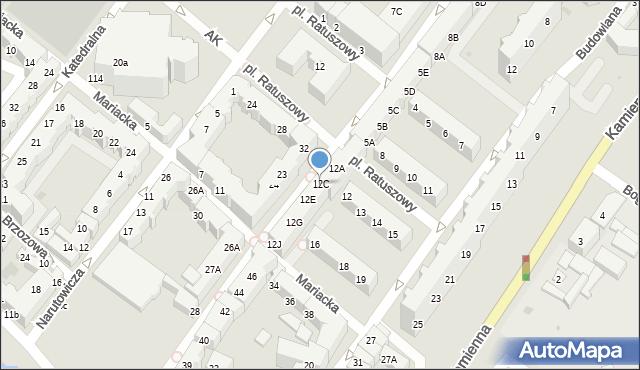 Kołobrzeg, Gierczak Emilii, 12C, mapa Kołobrzegu