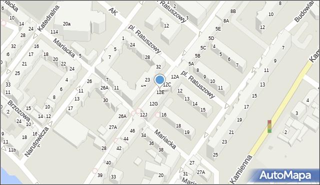 Kołobrzeg, Gierczak Emilii, 12E, mapa Kołobrzegu
