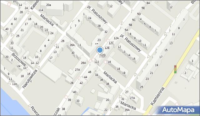 Kołobrzeg, Gierczak Emilii, 12H, mapa Kołobrzegu
