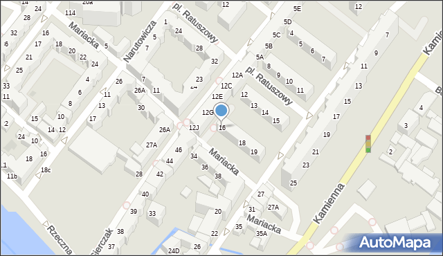 Kołobrzeg, Gierczak Emilii, 16, mapa Kołobrzegu