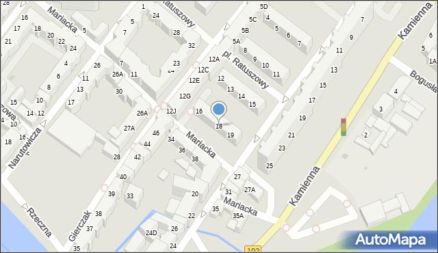 Kołobrzeg, Gierczak Emilii, 18, mapa Kołobrzegu
