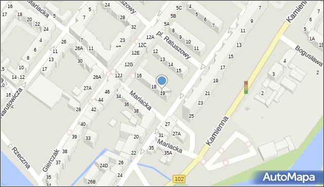 Kołobrzeg, Gierczak Emilii, 19, mapa Kołobrzegu