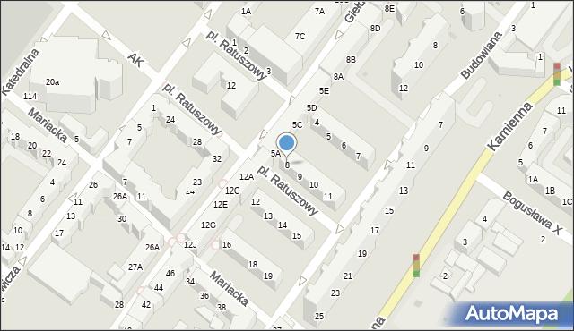 Kołobrzeg, Gierczak Emilii, 8, mapa Kołobrzegu