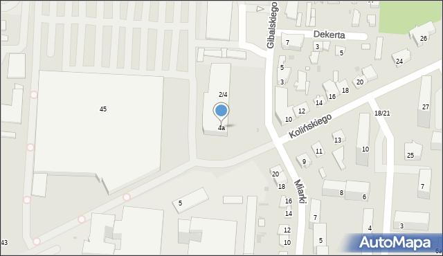 Łódź, Gibalskiego Edwarda, 4a, mapa Łodzi