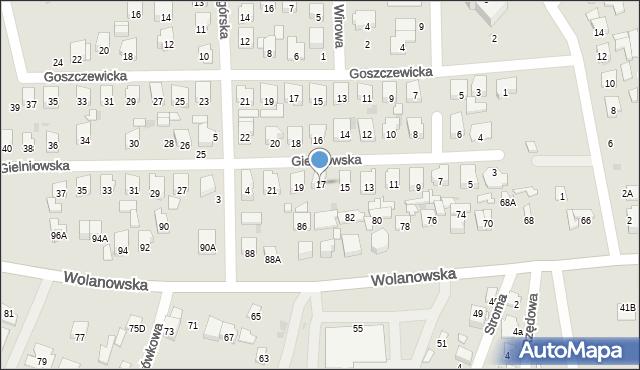 Radom, Gielniowska, 17, mapa Radomia